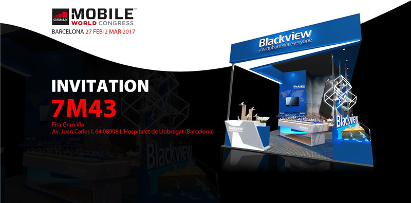 27/Feb. - 2/Mar. 2017, Blackview welcome all parters from the whole world at MWC