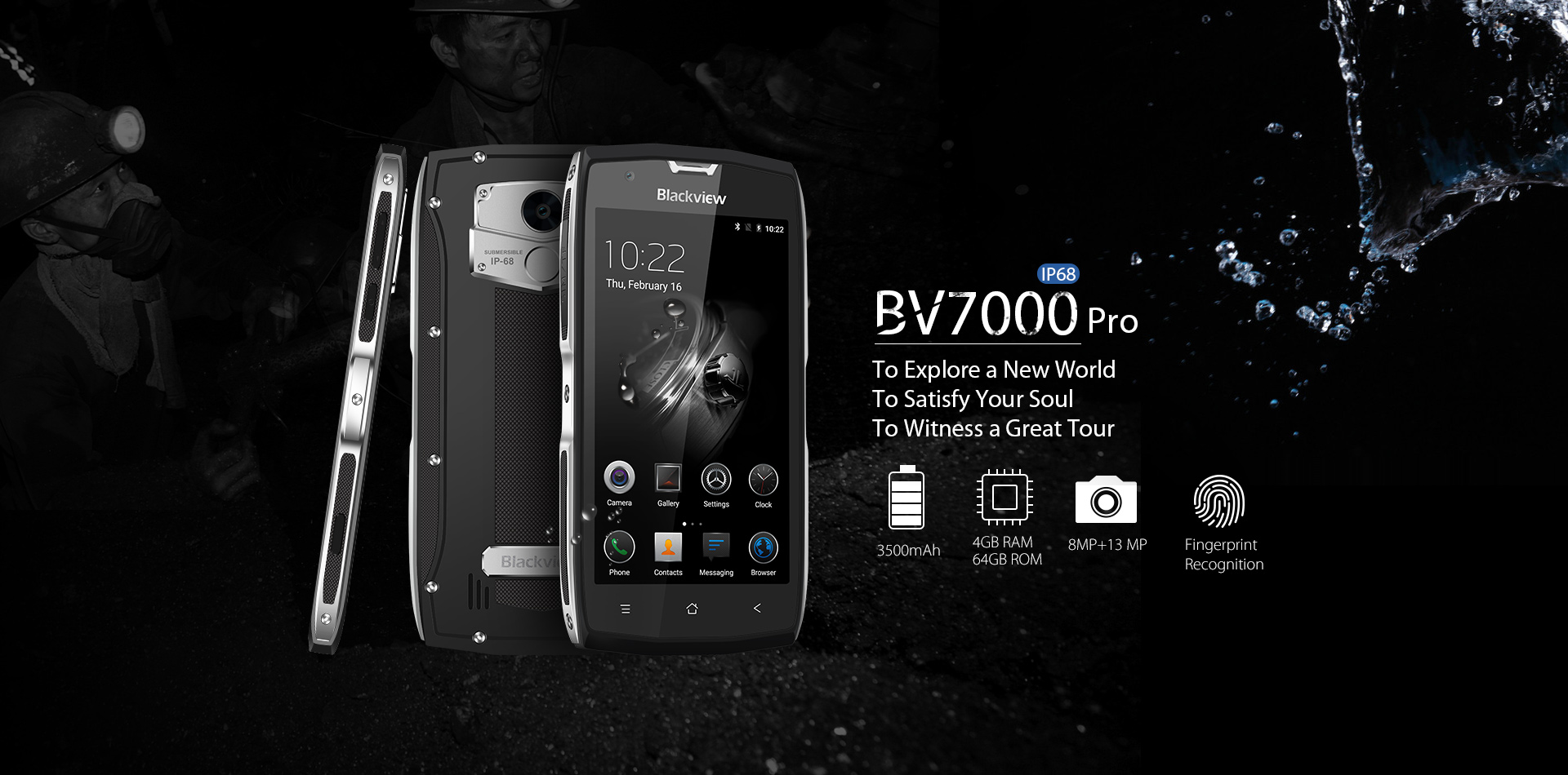 BV7000 Pro IP68 rugged smartphone