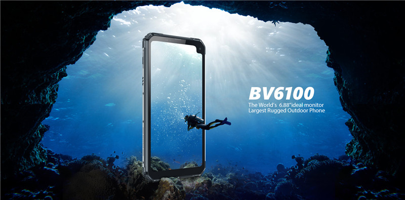 "The world's largest rugged phone Blackview BV6100 with 6.88"" screen"