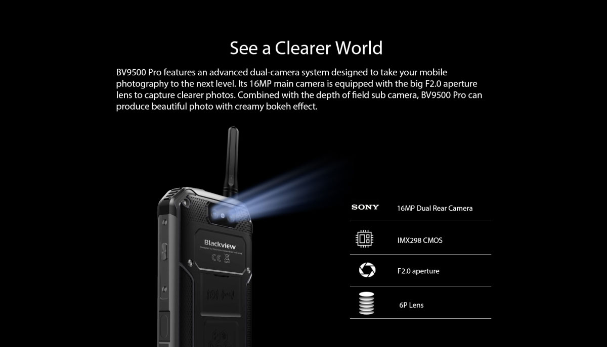 Blackview BV 9500 pro rugged outdoor walkie-talkie